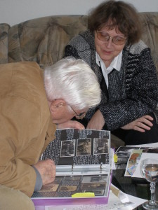 Willi Förster in conversation with Sharon Meen, 2008. Credit: R. Lengeman.