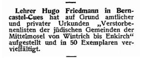 H. Friedmann 1929 Publication