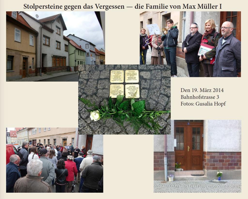 Stolperstein 2014