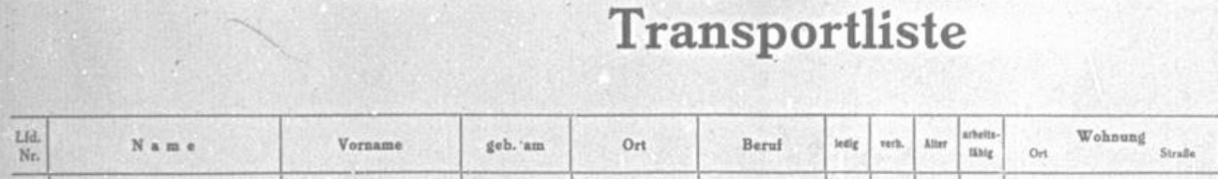 Otto Baer-Transport List 9.12.1942-1