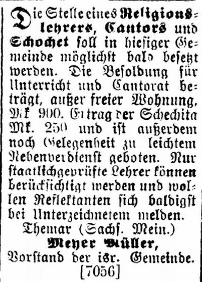 Themar Israelit 19101899