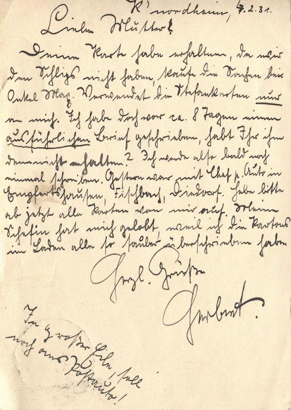 1931 Brief Postkarte 4 Ihre Stimmen Leben Noch Judisches Leben In Themar