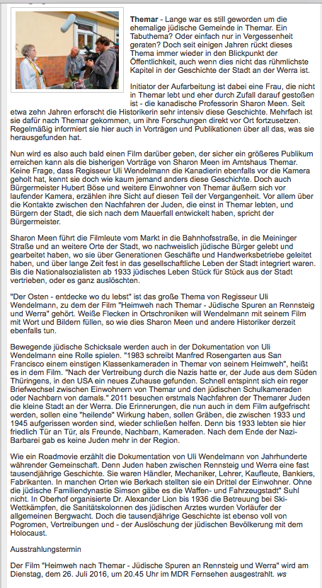 Heimweh nach Themar-newspaper